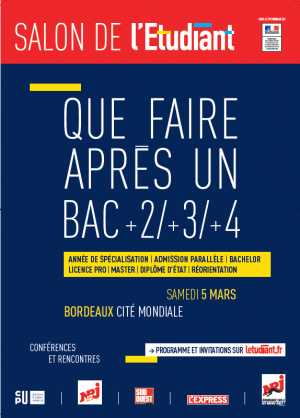 Agenda des manifestations bordeaux for Salon de l etudiant bordeaux