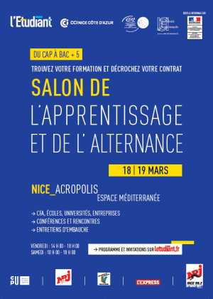 Agenda des manifestations nice for Salon de l apprentissage
