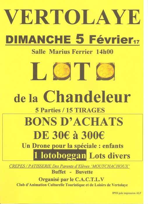 Loto de la chandeleur jeux vertolaye le 05 02 2017 - Date de la chandeleur 2017 ...