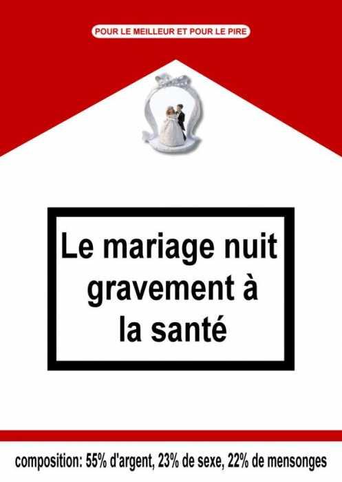 affiche - Le Mariage Nuit Gravement A La Sante